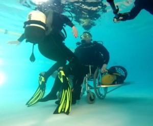 Инвалидная коляска для дайвинга. Описание по ссылке